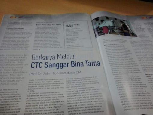 CTC Bina Tama lebih banyak menerbitkan buku-buku tentang komunikasi