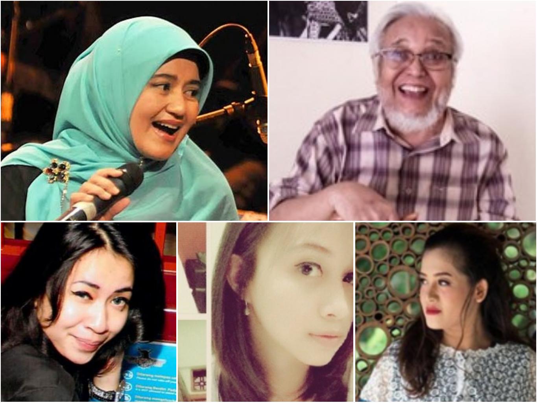 Adi Kurdi dan para pemeran inti dalam Keluarga Cemara dalam.foto kini